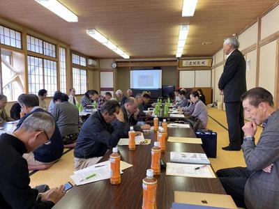湯之谷地域3コミュニティ協議会の視察研修で来られました。